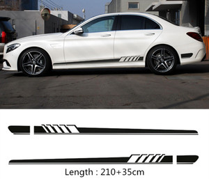 2pcs / Set Edition laterale auto Gonna Decoration Sticker per Mercedes-Benz Classe C W205 C180 C200 C300 C350 C63 AMG
