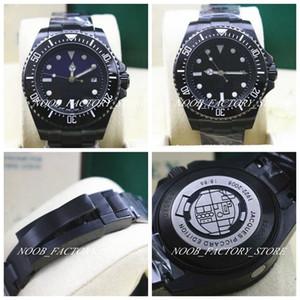 2 컬러 명품 시계 높은 품질 퍼페 추얼 44mm 바다 116660 D-블루 블랙 PVD 올 블랙 2813 운동 자동 글라이딩 버튼을 남자 시계