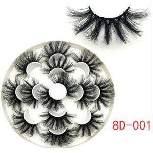 21 Styles 8D Chemical Fiber Cils long et épais Mink Lashes Maquillage Faux cils Eye main 7pair dans un ensemble