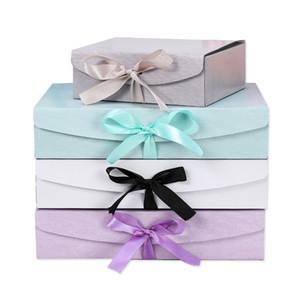 Kreative Party-Geschenkboxen mit Schleife Maßgeschneiderte LOGO-Schmuck- und Bekleidungsboxen Hartpapier-Verpackungsboxen für Geburtstag und Hochzeit