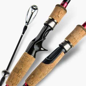 M мощности углеродного волокна Путешествия Rod приманка Удочка 1.8м 2.1m 2.4m 2.7m 3m Spinning Кастинг 4 секций путешествия пробковой ручкой