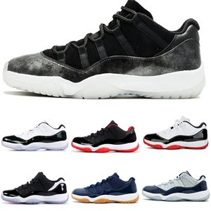 Jumpman 11 Men Men Basketball Shoes 11S Mens Trainers Low Quality WMNS Concord Bloodline Bred Toe Royal Blue Mens Sports Shoes Sneak#735