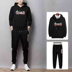 Mens Brand Plus Size 2 Pieces Set Zipper Letter Casual Outfit Fashion Spring Spring New Arrive Tracksuit 2020 Hot Sale