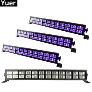 DJ Disco Lambası Ev Partisi Lazer Dekorasyon UV Led Bar Işık 24 LED UV Renkli LED Sahne Yıkama Etkisi Işıklar 90-240V Mükemmel