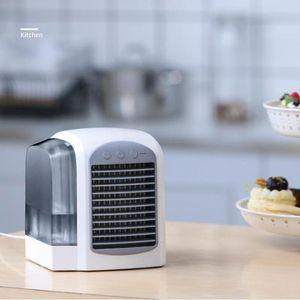 380ml USB Mini Air Air Air Condizionatore Umidificatore Purificatore Desktop Air Refrigeratore Ventola Portatile Ventola di raffreddamento ad aria per ufficio Home Room