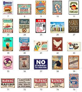 moda Vintage shop caffè Bar attenzione targhe in metallo targa arte artigianale muro vecchio stagno segnali di avvertimento decorazione domestica all'ingrosso