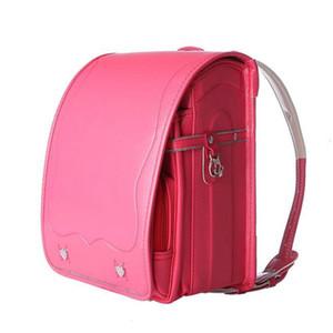 Colorfulyou okul çantası Kid Randoseru Ortopedik Sırt toka su geçirmez PU sırt çantası Erkekler ve Kız Okul Çantaları Metal