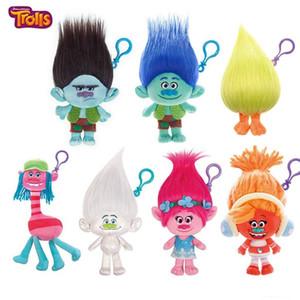 Hot Trolls Chaveiros Mágicos Bonecas de Cabelo Feio Bebê Troll Figura Do Filme Bobby Blanche Critter Skitter Trolls Boneca de Brinquedo de Natal Presentes para As Crianças