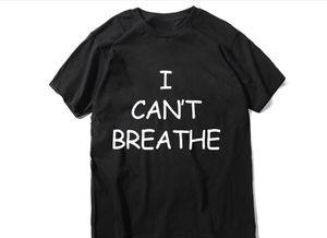 Lettera Stampa Casual T-shirt non riesco a respirare maglietta di estate casuale Tee non posso respirare maglietta di cotone 7 colori