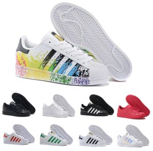 Superstars Originals Mens Designer Running Shoes 2019 Mujeres Casual Superstars 80s Holograma Iridiscente Junior Gold Dress Deportivo