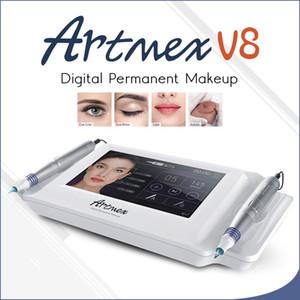 Système de maquillage permanent Machine Artmex Digital V8 Cosmétique Tatouage Pistolet À Sourcils Lèvre Double Écran Tactile Stylo Rotatif Système MTS PMU