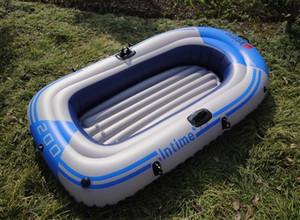 1/2 Person Надувная байдарка Canoe 55 / 90кг Гребной воздуха лодка Двойной клапан дрейфующих Дайвинг Надувные лодки Рыбалка Boa