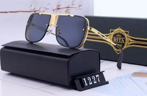 Diseñador Polarizerd Gafas de sol para hombre Espejo de vidrio Gril Lense Vintage Gafas de sol Accesorios para mujeres con caja 1227 #