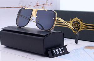 Designer polarizerd óculos de sol para mens espelho de vidro gril lense óculos de sol do vintage óculos acessórios das mulheres com caixa de 1227 #