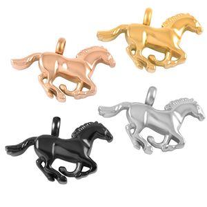 hh8669 quatre couleurs brillant en acier inoxydable poli Running horse Holder Crémation Pendentif cendres Keeosake Collier Urne Memorial