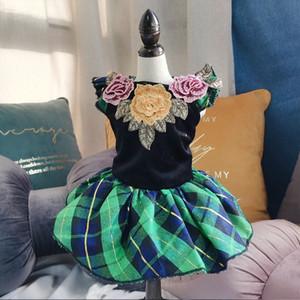 Собака платье чихуахуа одежда для маленьких средних собак Платья щенок Йоркшир Тедди домашнее животное платье юбка Ropa De Perro Ropa Para Perros