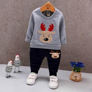 Enfants Designer Vêtements Ensembles Garçons et Filles Elk Costumes Ensembles de Noël Fashion Animal Print Solide Couleur Vêtements Automne 2019 pour les enfants