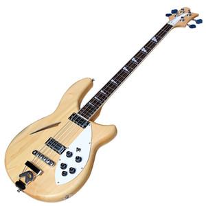 4 Strings Semi-Hollow Оригинальный Body Electric Bass Guitar с R Bridge, Chrome Hardware, можно подгонять
