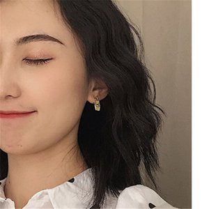 Female mini stud earrings asymmetric Banana milk stud earrings Cute Romantic strawberry milk earrings for women banquet jewelry