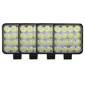 4 Pack 48W 16 LED Work Light Flood Beam Bar Car SUV ATV Off-Road Driving Fog Lamps