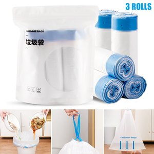 HOT Kitchen Drawstring Trash Bags Leak-proof Heat-resistant Strong Bearing Capacity Home Trash Bags NDS