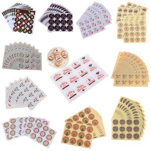 16-160pcs Obrigado Feliz Natal Tema Sealing Sticker presentes DIY postado Baking Decoração Pacote Etiqueta multifuncionais