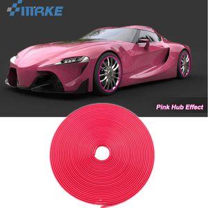 8M Auto Radnabe Rand Rand Rand Schutzring Reifenstreifen Guard Gummi Aufkleber auf Autos Rosa Auto Styling