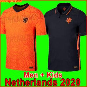 Holanda camisa de futebol Euro 2020 2021 DE JONG Holland camisa de futebol 20 DE LIGT VIRGIL STROOTMAN MEMPHIS PROMES Uniformes para homens e crianças