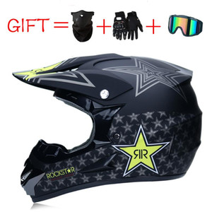 3 Presentes Racing Off-road completa face do capacete da motocicleta Dot Motocross Motorbike Dirt Bike Capacete Moto Casco Casco Moto Vintage