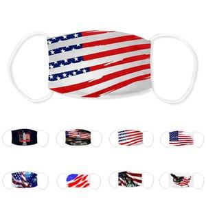 Vereinigte Staaten Flaggen Designer Gesicht 2020 USA-Präsident Wahl Printing Sonnenschutz Respirator Staub Trump Mundmasken mit Filtermaske