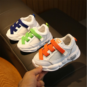 Children girls boys Casual Shoes sport air mesh breathable shoes with elastic band 3colors 21-30 905 TX09