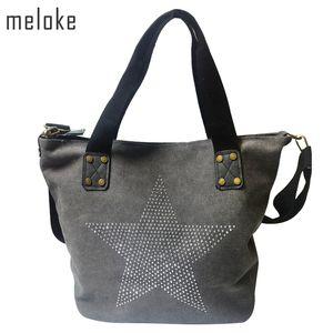 Meloke 2018 BIG STAR TOILE Handbag - multifonctions pailletée Voyage usine Outl épaule Diamants Sac Vintage Bolsos