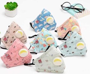 Child Kids Respirator Disposable Cartoon Boys Girls Non-Woven Mouth Mask Anti Pollution Breathable print Face Masks for adult kid