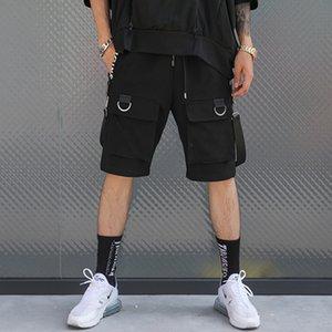 April Momo 2019 Hombres Verano Longitud de la rodilla Hip Pop Shorts Pantalones Streetwear Hombre Moda Casual Estilo suelto Ropa deportiva Shorts Hombres Y19050501