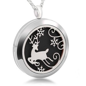 Stainless Steel Hollow 316L Necklace Accessories Perfume Woman Aromatherapy Charm Deer Pendant