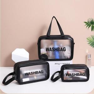 Piscina Travel Bag Cosmetic Bag Mulheres Zipper Make Up Maquiagem Transparente Caso Wash Kit Organizer Bolsa de armazenamento de Higiene Pessoal Beleza Bolsas DHF245