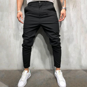Mid Waist Mens Designer Clothing Button Fly Skinny Slim Mens Pants Designer Casual Pants Teenager Full Length