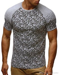 Mens Fitness Crew Neck T Shirts Fashion Breathable Summer Mens Casual Teenager T shirt European and American