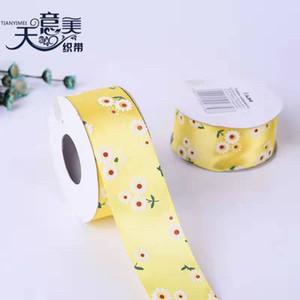 4cm ribbon printing textile accessories ribbon printing gift box packaging diy small packaging foreign trade ribbon