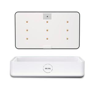 3 1 Taşınabilir UVC Dezenfeksiyon UV Sterilizatör Işıklar Cep Telefonu 15W Kablosuz Hızlı Şarj İçin Cep Telefonları Mücevher