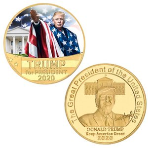 Trump Collection 2020 monedas de oro Crafts Trump habla Moneda conmemorativa América Latina Presidente Trump Mantenga Grandes monedas DHF192