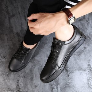 Men Sneakers New Fashion High Quality Soft Simple Casual Shoes Men Comfortable Breathable Ultra-light Genuine Leather White Shoe