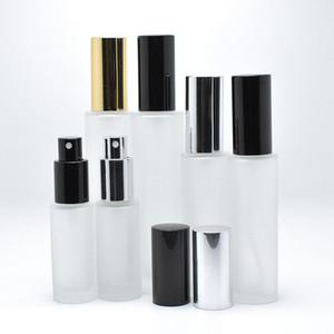 18 ml 30 ml 50 ml Vazio transparente Frasco De Spray de vidro Fosco Recipiente Perfume Recarregáveis Atomizador Cosmético F2032