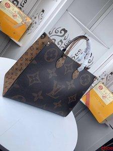 # 9654 5A L Марка V OnTheGo Tote сумки сумки женщин Мода Классический Toron Верхняя ручка сумки из натуральной кожи большой емкости хозяйственная сумка M44576
