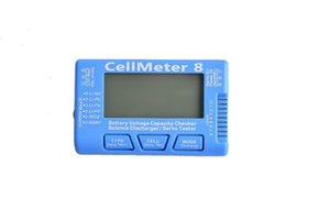 FUSE MODEL Cellmeter 8 Battery Voltage Capacity Checker Servo Tester for Lipo Li-lon Li-Fe NiCd NiMH Battery with Backlight Blue 1pcs