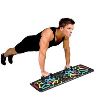 14-en-1 empuja hacia arriba el estante de Capacitación Board Support Fitness Equipment multifunción push-up Soportes herramientas de fitness ejercicio para gimnasia