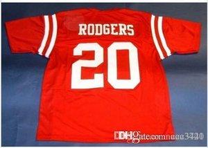 Hommes # 20 Cornhuskers NEBRASKA JOHNNY RODGERS CUSTOM College taille Jersey s-4XL ou sur mesure tout maillot de nom ou le numéro
