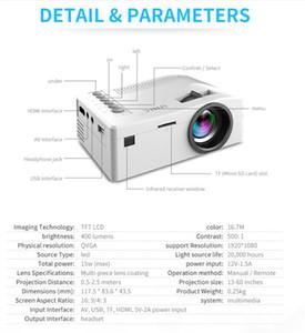 Neue Original-Unic UC18 Mini-LED-Projektor-bewegliche Taschen-Projektoren Multimedia-Spieler-Heimkino-Spiel unterstützt HDMI USB