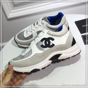 chanel 2019 Nouveau Hommes Femme Casual Formateurs Sport Mode Respirant Lo-Top Luxe Homme Femme Sneakers Chaussures Chaussures Taille 35-45