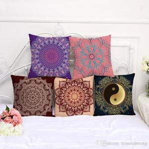 Bohemia mandala fronha 10 designs sofá casa cover capa de travesseiro impressão coxim decoração algodão e linho fronha cintura carro